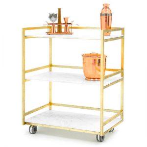 Carrito de servicio-bar de Glassisimo, Bar Cart de Glassísimo, muebles con cristal, muebles para sala, muebles finos para casa, mobiliario para comedor