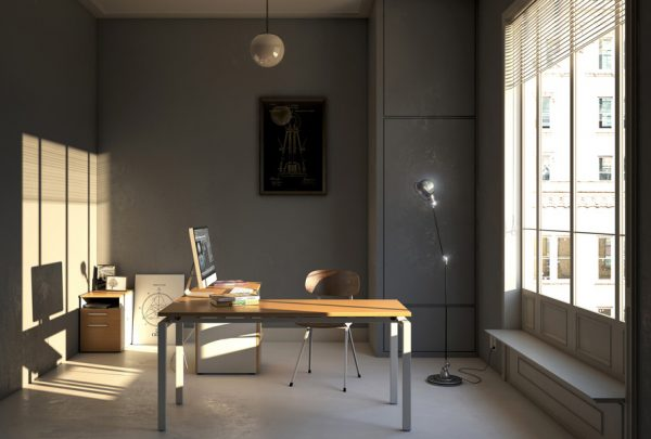 Escritorio Vision, escritorio para home office, escritorio con cajonera, escritorio en escuadra, muebles para casa, muebles para el hogar, mobiliario para home office