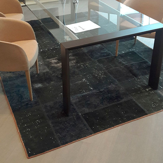 Tapete Raha, tapetes persa, tapetes con tecnica patchwork, tapetes para sala, tapetes para comedor, accesorios para hogar