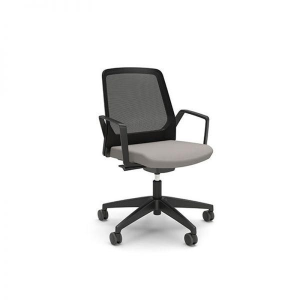 BUDDYis3, silla operativa para oficina, sillas de Interstuhl, sillería operativa para oficina, sillas tapizadas en malla y tela, sillería tapizada en malla y tela, sillas giratorias