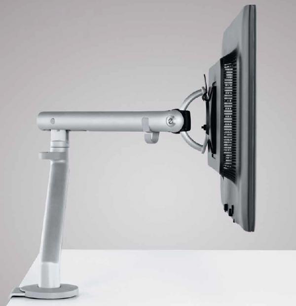 Brazo porta monitor Flo, brazo para monitor, soporte de monitor, soporte para monitor, brazo articulado para monitor, soporte articulado para monitor, accesorios para oficinas