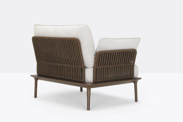 Sofá Reva Twist de Pedrali, sofás italianos, sofá diseñado por Patrick Jouin, sofás para exteriores, sofás para hogar, muebles para hogar, muebles para jardín y terrazas, muebles de Pedrali, muebles para exteriores