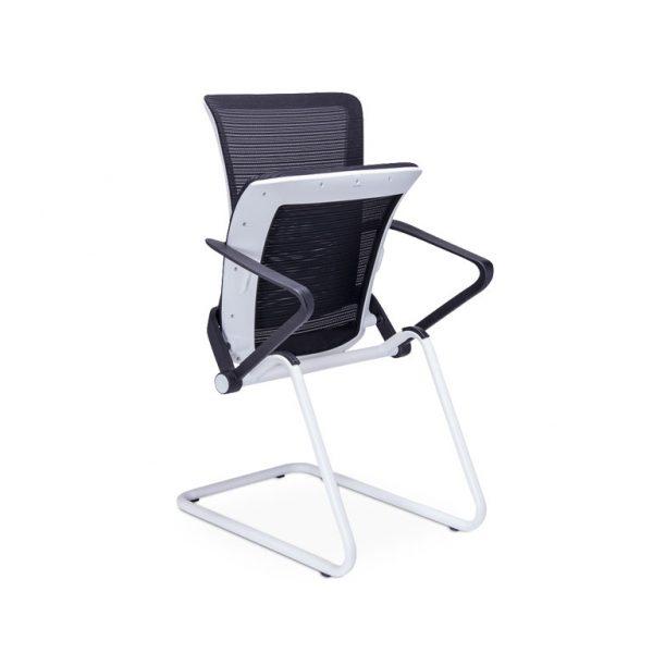 Silla RM-9011, sillas para oficina, sillería para oficina, sillas para visita, sillas tapizadas en malla, sillería para visitas, sillería tapizada en malla, sillas cómodas, sillas ergonómicas, sillas con asiento abatible