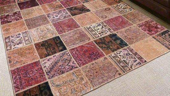 Tapete Ziba, tapetes persa, tapetes con tecnica patchwork, tapetes para sala, tapetes para comedor, accesorios para hogar